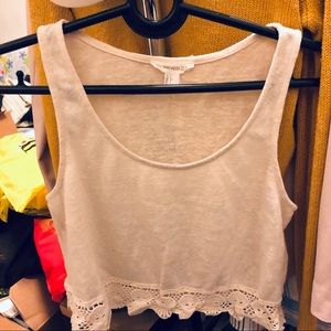 FOREVER 21 TANK CROP TOP SIZE S